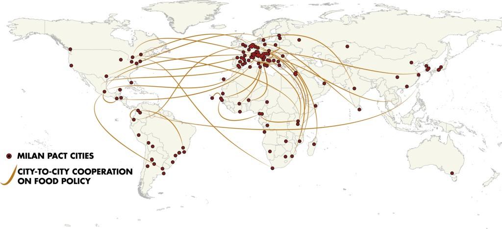 Map GLOBE Food Cities