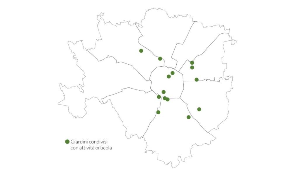 Giardini condivisi mappa
